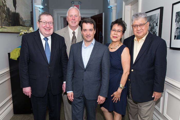 Event Co-Chairs Gregory Bulger and Richard Dix with Opening Night conductor Jacques Lacombe (center) and event Co-Chairs Lina Plantilla and Eduardo Plantilla.jpg