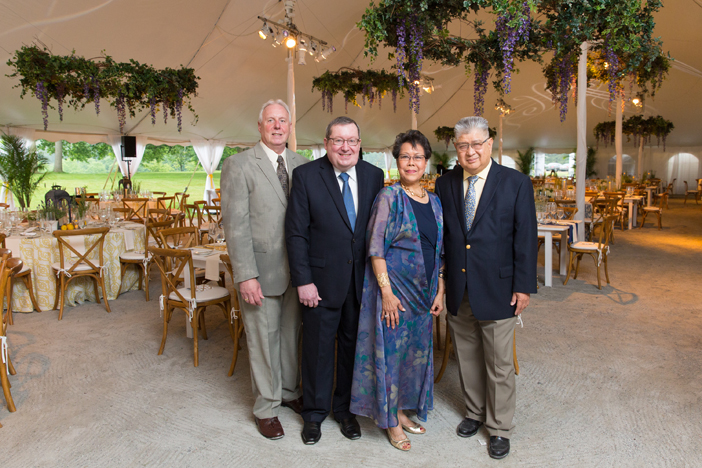 Event Co-Chairs Richard J. Dix and Gregory E. Bulger with Lina S. Plantilla,  and Eduardo R. Plantilla.jpg