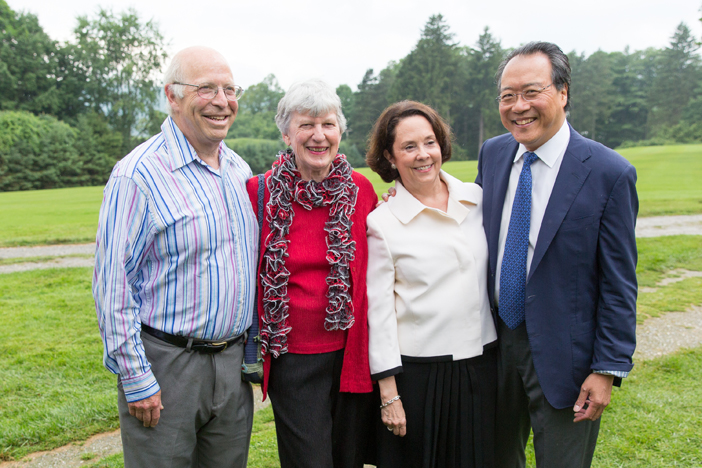 President of the Board of Trustees Paul Buttenwieser, Katie Buttenwieser, BSO Overseer Jill Hornor, and cellist Yo-Yo Ma.jpg